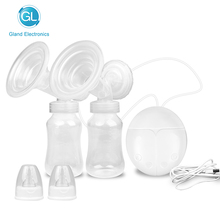 GL USB Double Electric Breast Pump for Baby Feeding Strong Suction Infant Milk Nipple Breast Enlargement Pumps With Two Bottle