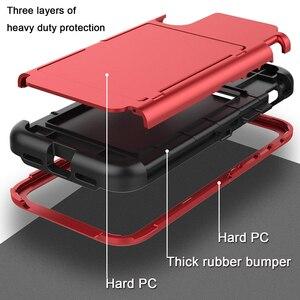 Image 3 - Pour iPhone Xs Max X 7 8 Plus étui portefeuille porte cartes support de fente caché miroir arrière robuste Protection du corps complet étui robuste