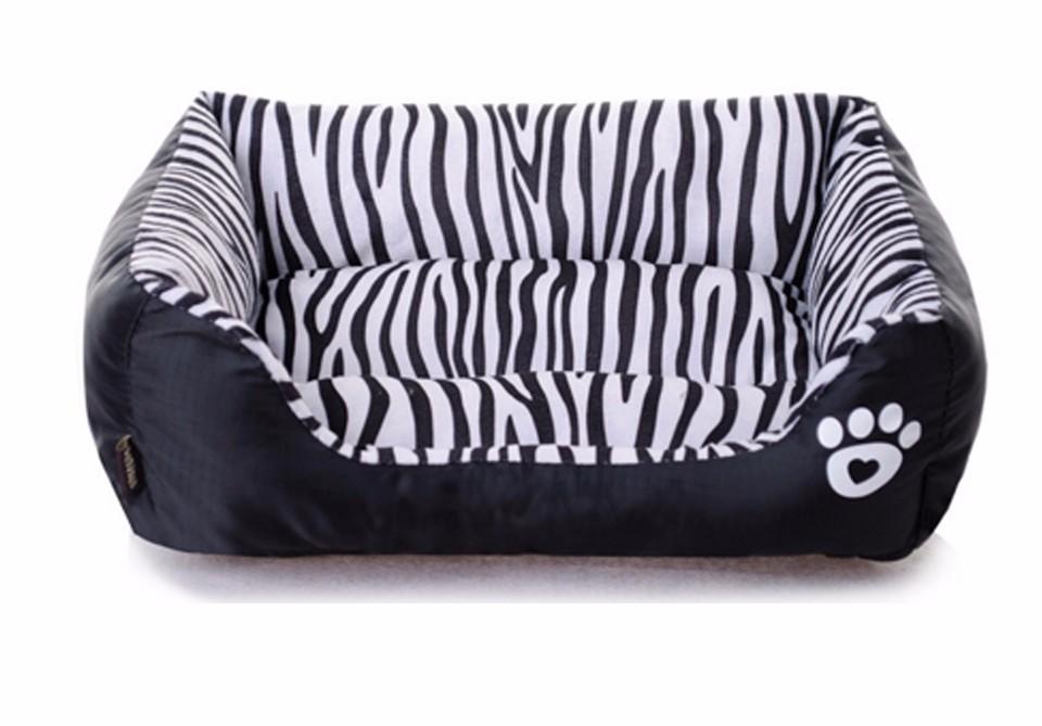Waterproof Zebra Pattern Dog Bedding