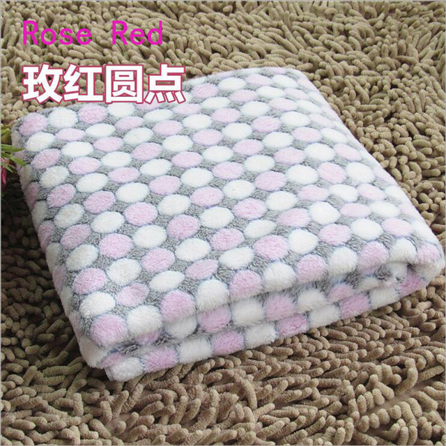 Soft Flannel Pet Dog Blanket Dots Printed Breathable Dog Cat Bed Mat Warm Pet Sleeping Cushion Cover For Pet Dog Cat Products