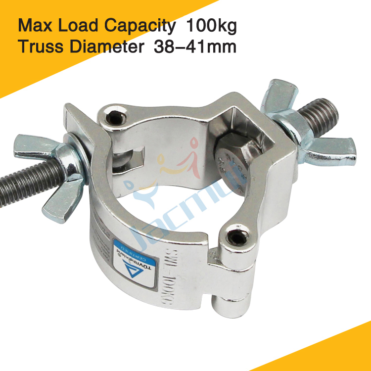 Small Size 38-41mm Load 100kg Hanging Pipe Clamp Aluminum Clamp For Stage Truss