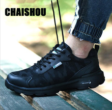 CHAISHOU men woman Couple Work shoes Couple Breathable lace-up Steel Toe Anti-smashing anti-piercing Casual safety Boots CS-150