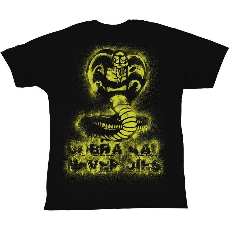 Карате малыш змея плевать черный Для мужчин взрослых короткий рукав Футболка Повседневное футболка мужской короткий рукав узор китайский ...