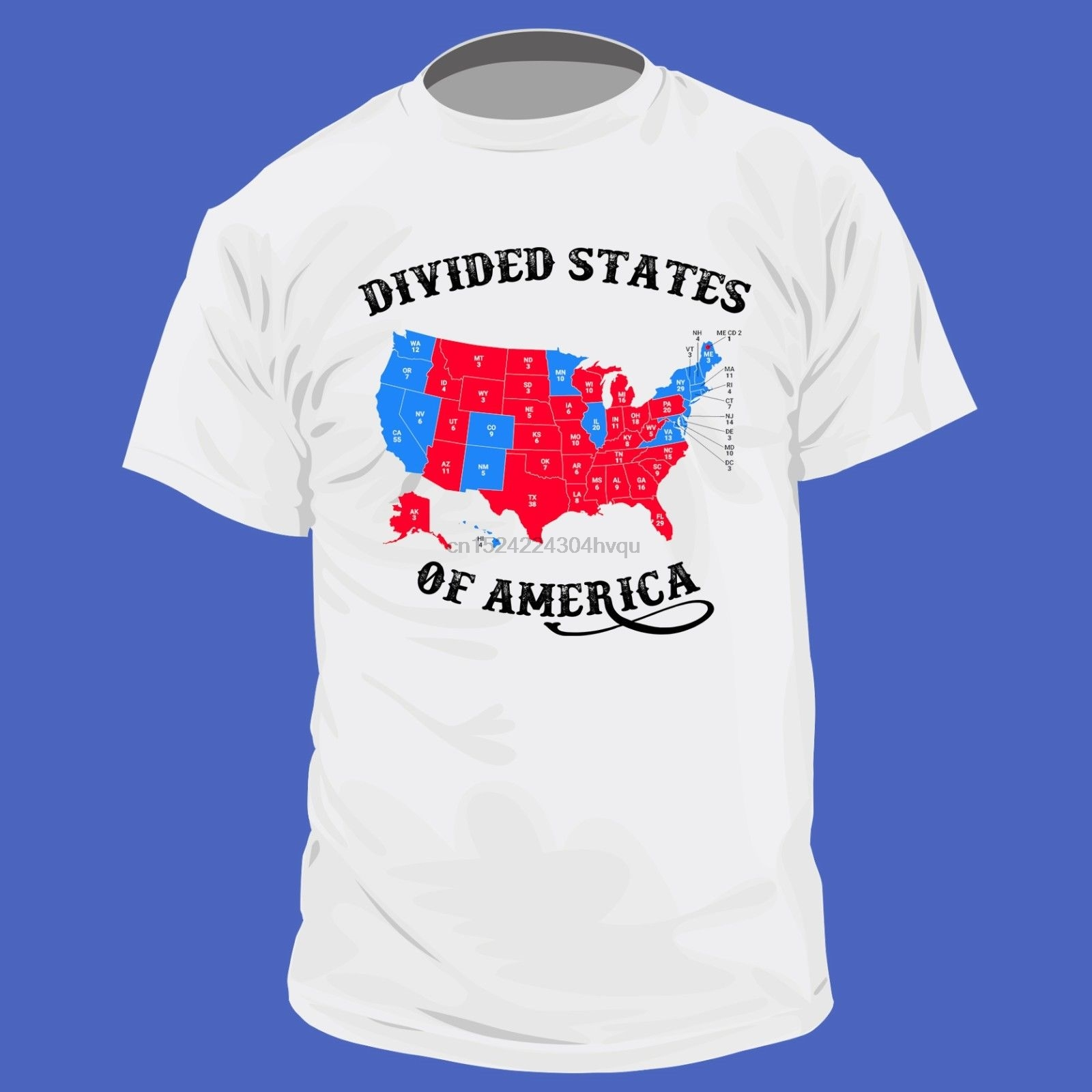 New Divided States Of America Shirt Electoral College Election Map