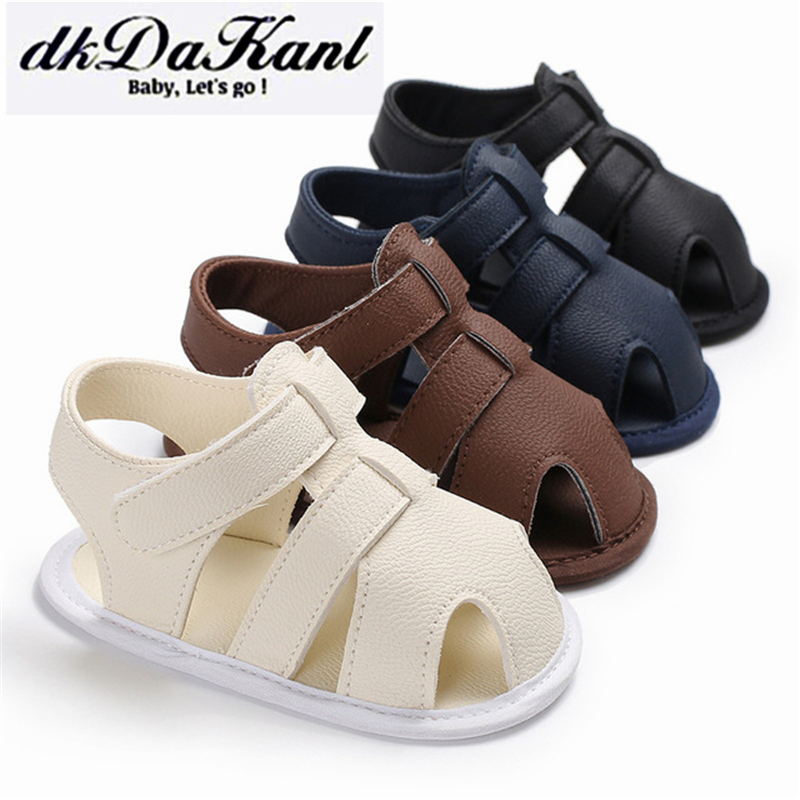 DkDaKanl 2018 Summer Kids Shoes Brand Closed Toe Toddler Boys Sandals Orthopedic Sport Pu Leather Baby Boys Sandals Shoes HHS001