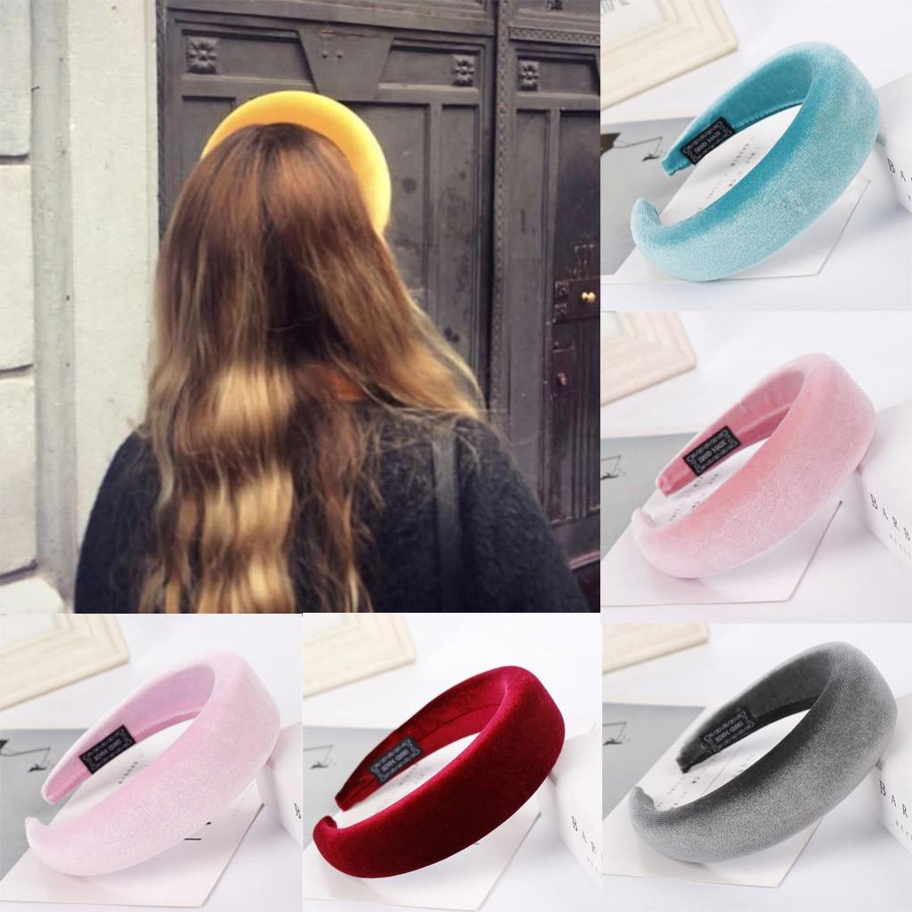 Hair Accessories Thick Velvet Girls Headband Sponge Hairband Head Hoop Headwear