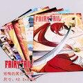 8 pçs/lote Cartazes Fairy Tail Anime Pinturas parede pictures 2 tamanhos 58x42 CM Alta qualidade Em Relevo