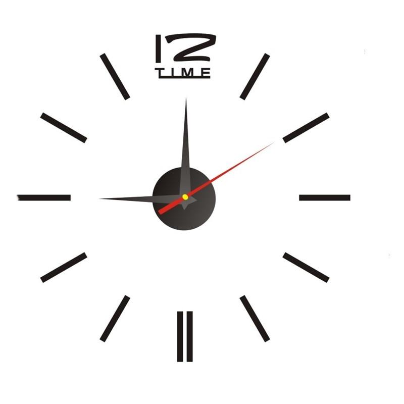 Настенные часы акриловые пластиковые зеркальные настенные наклейки наклейка