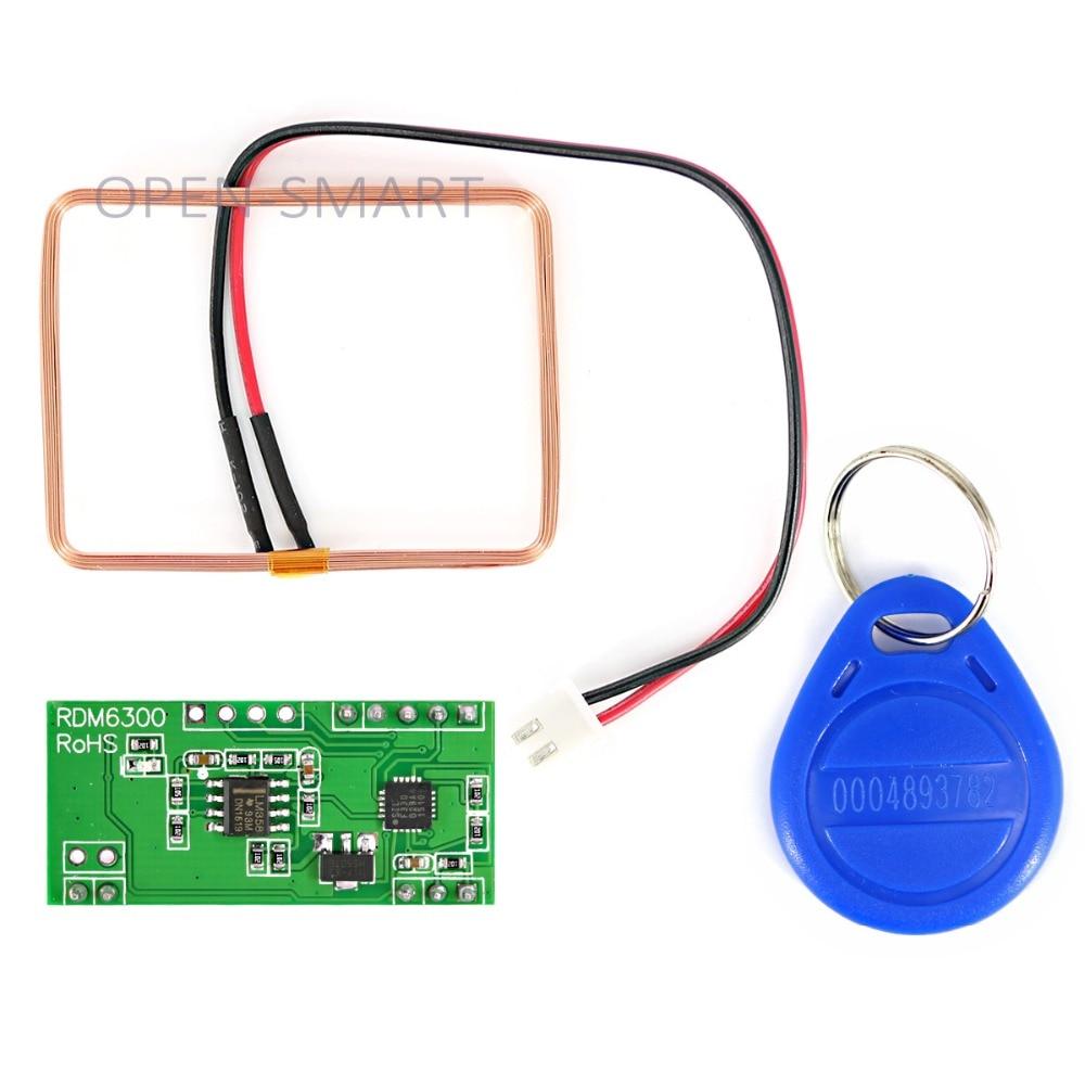 125KHz Serial UART RFID Card Reader For Arduino RFID Module Serial UART RDM6300 RFID Card Reader With Copper Coil / ID Key