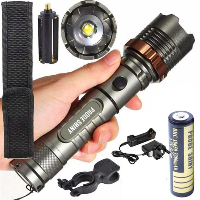 Flashlight 18650 X800 Zoomable Torch Flashlight T6 Led Tactical Flashlight Lights & Lighting Led Flashlights 18650 Battery Led Flashlight Rechargeable #4a24 At All Costs