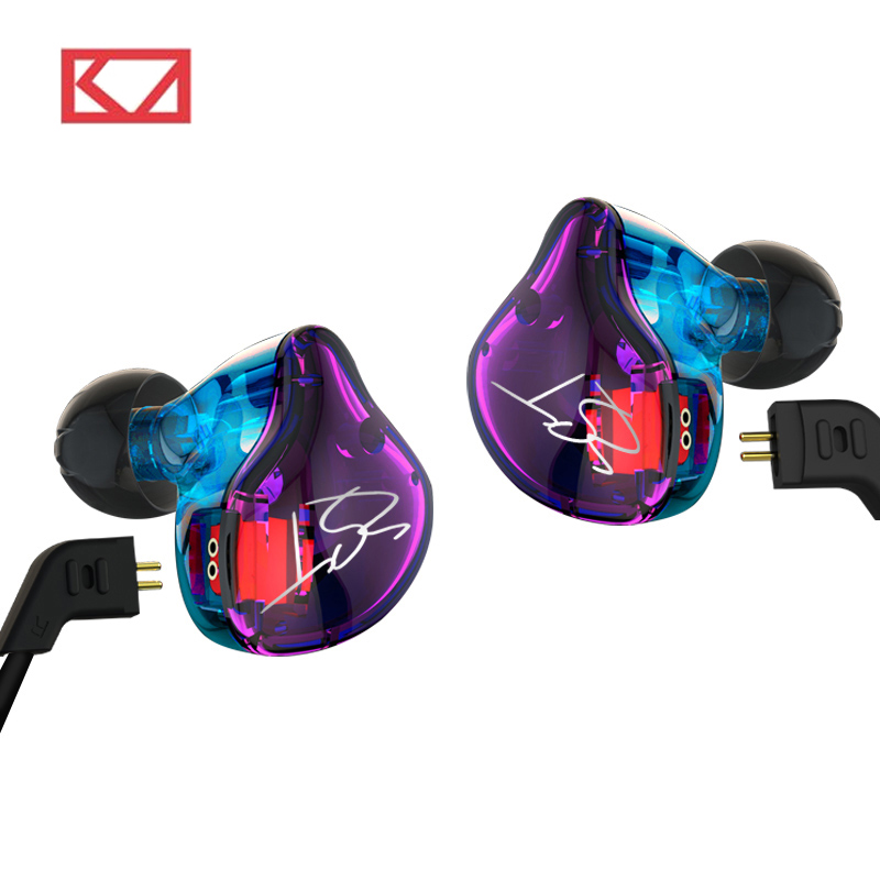 KZ ZST 1BA+1DD Hybrid In Ear Earphone HIFI DJ Monito Running Sport Earphones Earplug Headset Earbud KZ ZS6 / ES4 KZ ZS10 KZ AS10 kz