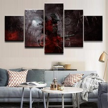 5 Panels Game Bloodborne Role Modern Home Wall Decor Painting Canvas Art HD Print Picture For