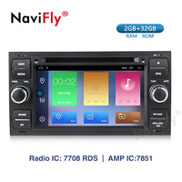 Navifly! 2din Android 9.1 Car dvd radio Player GPS For Ford Mondeo S max Focus 2 C MAX Galaxy Fiesta transit Fusion Connect kuga