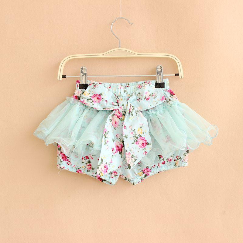 korean baby girls summer flower short pants new style