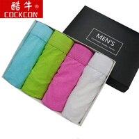 Cockcon 4 Pc/lote Mens Briefs Sexy Lace Underwear Homens U Bolsa Gay Mens Underwear Cuecas Breve