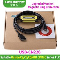 USB CN226 Amsamotion Design Economic Cable Suitable Omron CS CJ CQM1H CPM2C Series PLC Programming Cable