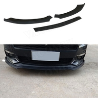 For Mustang Front Lip Spoiler Bumper Splitters for Ford Mustang Coupe 2015 2016 2017 3PCS Black Car Head Chin Shovel Car Styling