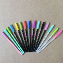 disposable brush tools 200 pcs Silicon eyelash brush head eyelash brush pack 15 colors. wholesale