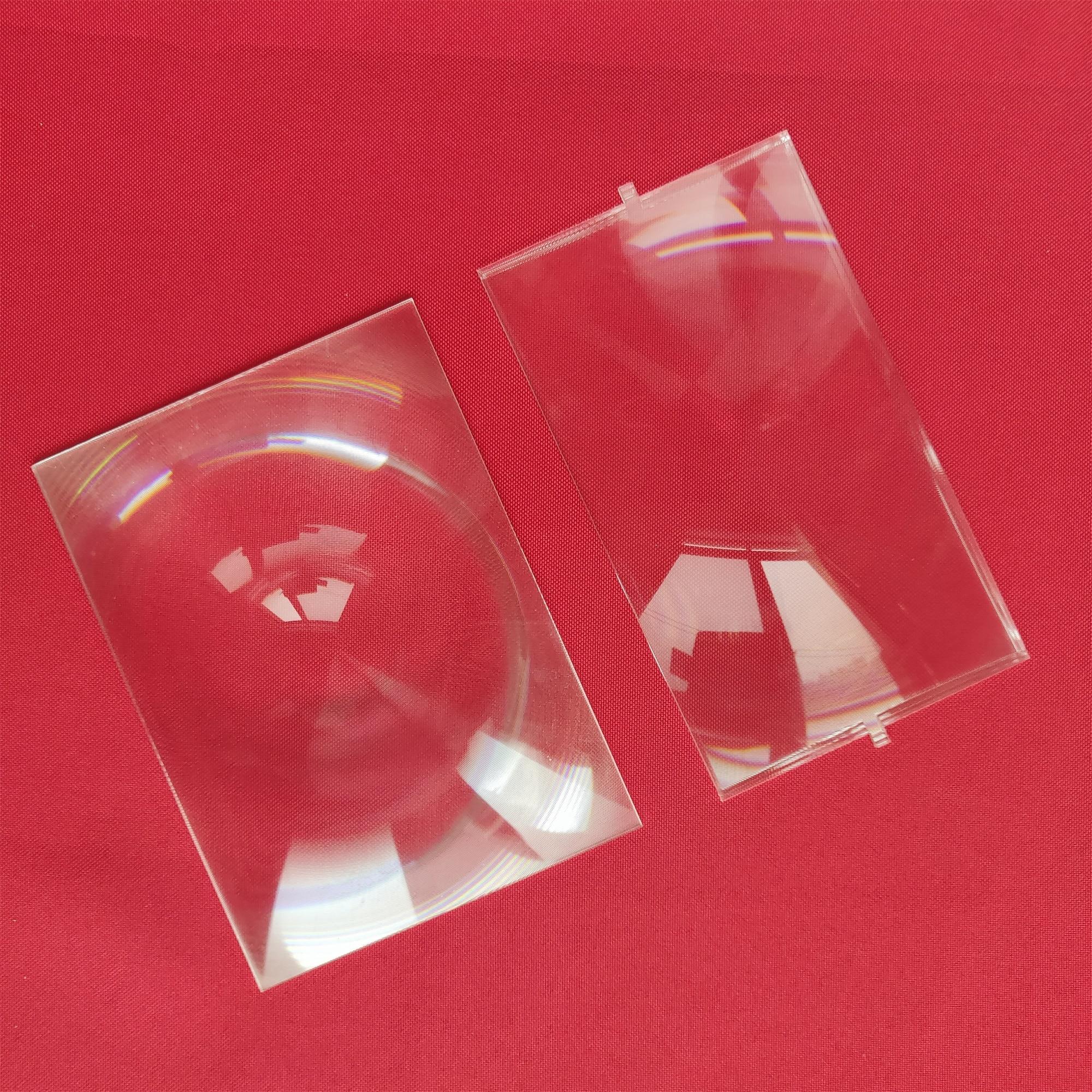 2 Pcs Fresnel Lens For 5.5 Inch LCD Front 148mm*82mm F185mm And Back 138mm*100mm F100mm DIY Projector Beamer Fresnel Lens Kit
