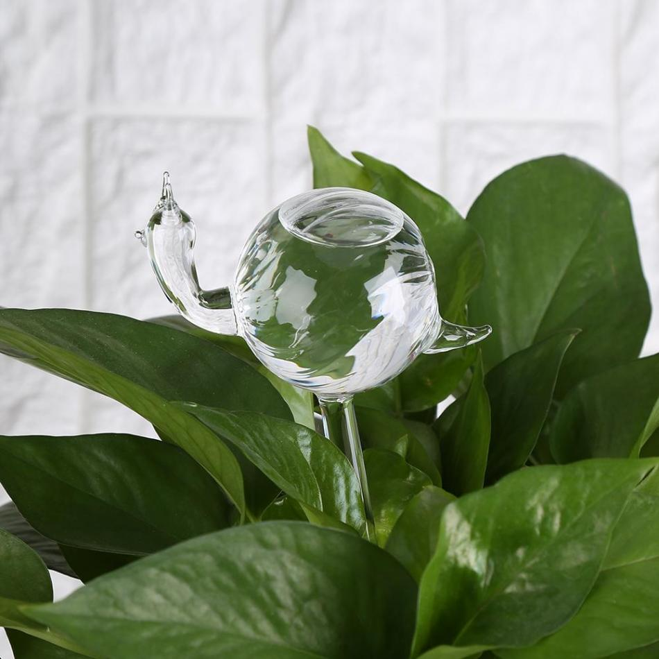 House Plants Flowers Water Feeder Automatic Self Watering Devices Clear Glass Water Feeder Snail Shape irrigation Sprinkler Кормушка