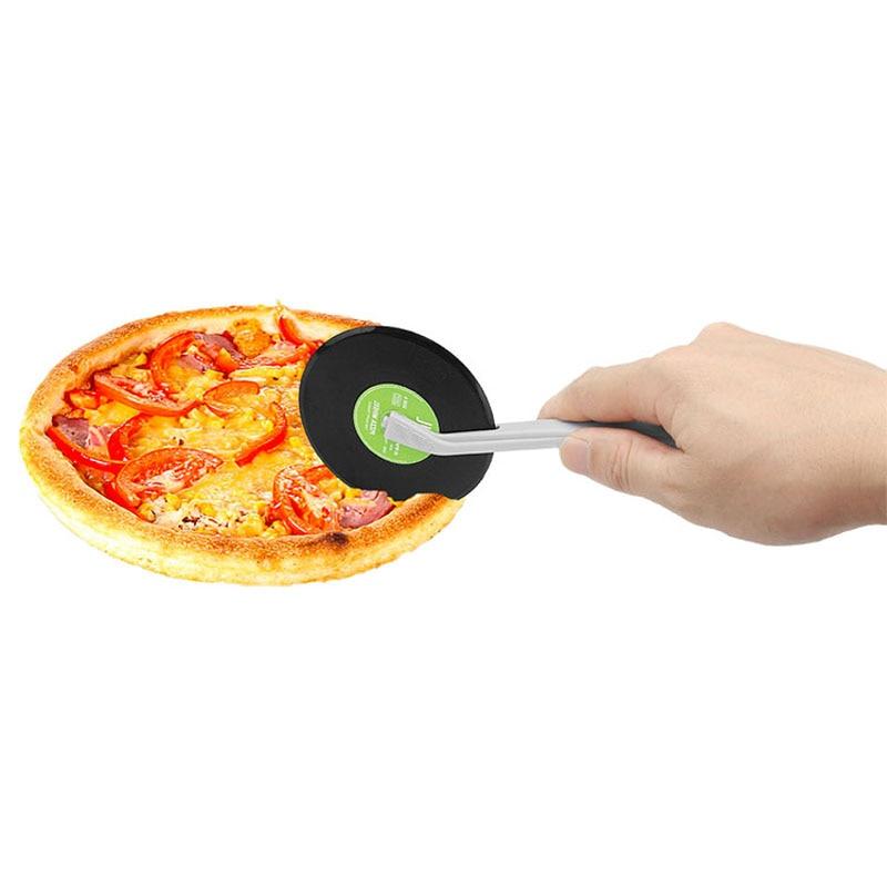 Creative Vinyl Record Design Pizza Cutter Plastic Rollers Wheel Cutter Dough Knife Kitchen Tools Accessories нож для пиццы