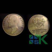 1 шт. 50*3 мм железо с античная бронза с покрытием масонский человек голова LOJA Eugeniu Carada металл ремесло монета