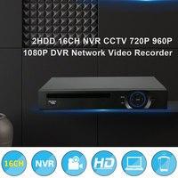 Hiseeu 2HDD 16CH NVR CCTV 720P 960P 1080P DVR Network Video Recorder H 264 Onvif 2