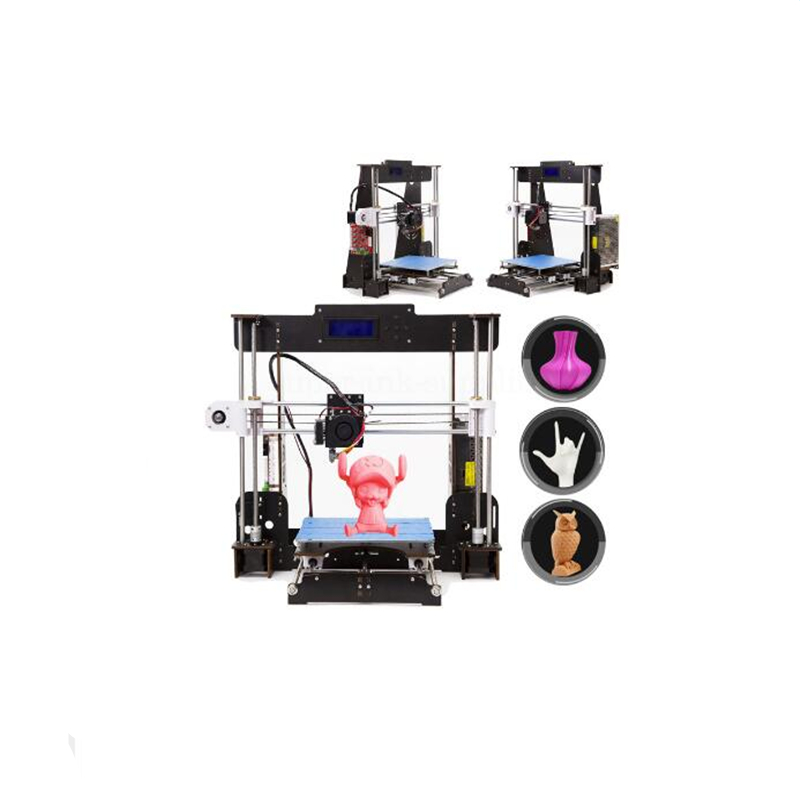 CTC W5 3D Printer Reprap Prusa MK8 i3 DIY Kit MK2A heizung bett 3D Drucker ABS/PLA new 26pcs abs printed parts kit for reprap prusa i3 rework black pla 3d printer diy durable quality