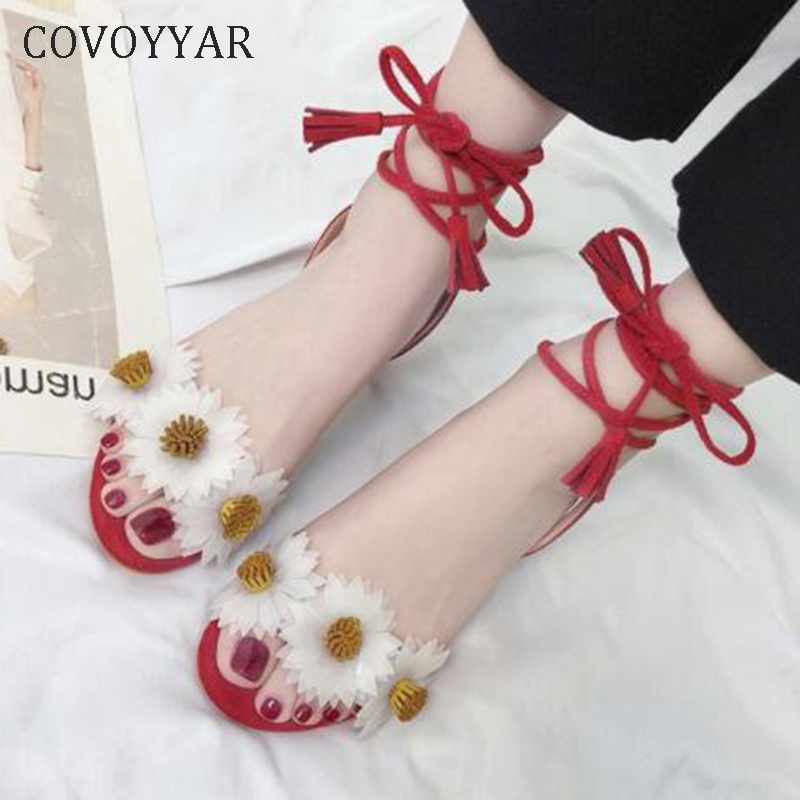 COVOYYAR 2019 Thick Heeled Women Sandals Bohemian Lace Up Lady Gladiator Sandals Flower Pumps Ankle Warp High Heels WHH163COVOYYAR 2019 Thick Heeled Women Sandals Bohemian Lace Up Lady Gladiator Sandals Flower Pumps Ankle Warp High Heels WHH163