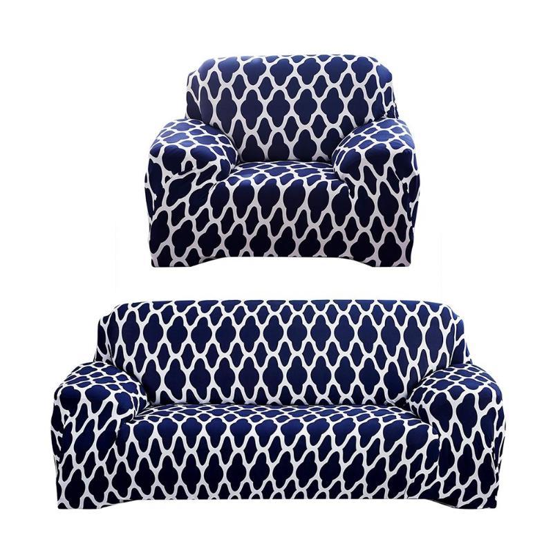 e95c38f459f Geométrico impreso elástico Delgado fundas todo incluido sofá cubierta de  envoltura para habitación transversal cubierta de sofá de muebles de Patio