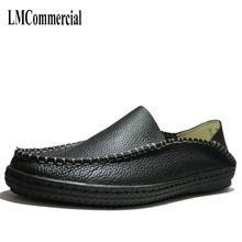 men leather soft bottom tail lazy casual shoes spring and autumn Men Flats Fashion High Quality Genuine Leather Shoes
