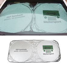 цена на Front Rear Window Sunshade for Jeep Wrangler Compass Cherokee Patriot Rubicon Car Windshield Sun Shade Sun Screening Cover Film
