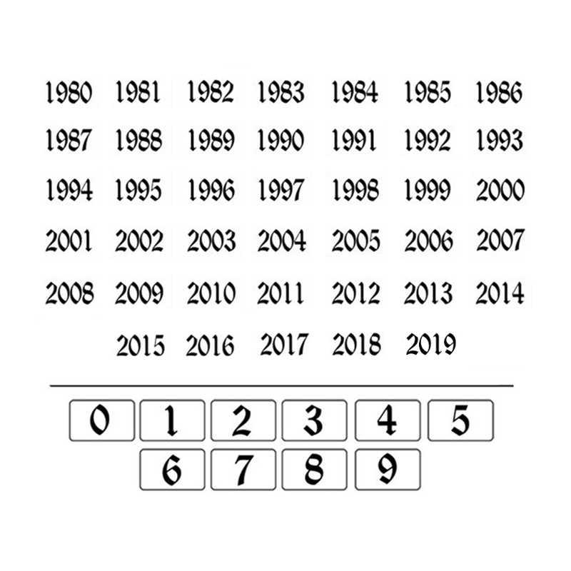 Old ตัวเลขวันที่สร้อยข้อมือ Multi-layer ส่วนบุคคลข้อเท้า Bracelet1980 to 2019Gift-Gift สำหรับเธอ-ที่ไม่ซ้ำกันเครื่องประดับ