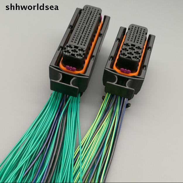 shhworldsea car 40P 81P engine wiring harness plug 121P 121 PIN 1J0 906 385C 038 906