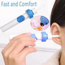 Электрический очиститель для ушной раковины, чистящая кюретка, набор для ухода за ушами, инструмент для чистки ушей, Мягкая головка