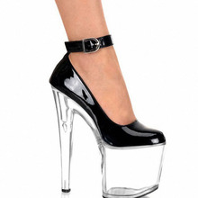 Sexy Ankle Strap Platform Women Ultra 20cm Super High Heel Shoes, Pole Dance / Modle Shoes, Wedding / Party Shoes /Crystal Shoes