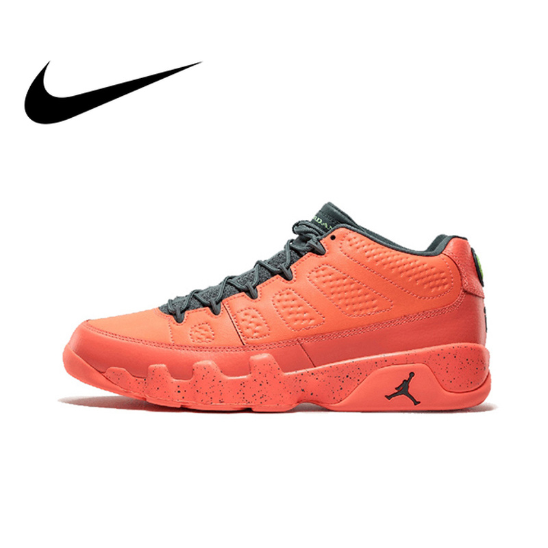 low priced 6a384 748e8 Original Official NIKE Air Jordan 9 Shiny Stockings Mango AJ9 Men s  Basketball Shoes Sneakers Culture Anti Slip Breathable-in Basketball Shoes  from Sports ...