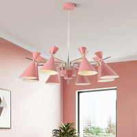 Nordic Chandelier Light Fixture Pink Crystal Lighting Living Room American Big Chandeliers Restaurant Chandelier Modern Lamps