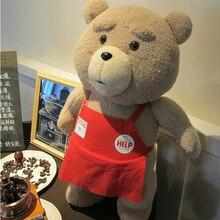 Brand New 2015 Movie Teddy Bear Ted 2 Plush Toys In Apron 48CM Soft Stuffed Animals Ted Bear Plush Dolls Christmas Gift