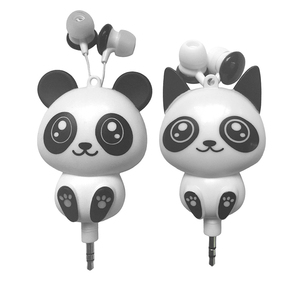 Image 5 - Kebidu 3.5 مللي متر السلكية لطيف الباندا قابل للسحب سماعات سماعات سماعات ل هاتف ذكي MP3 هدية عيد ميلاد للطفل