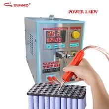 SUNKKO máquina de soldadura por puntos de batería, 3,8 kW, espesor de soldadura de alta potencia de hasta 0,35mm, soldador por puntos con bolígrafo de soldadura 70B