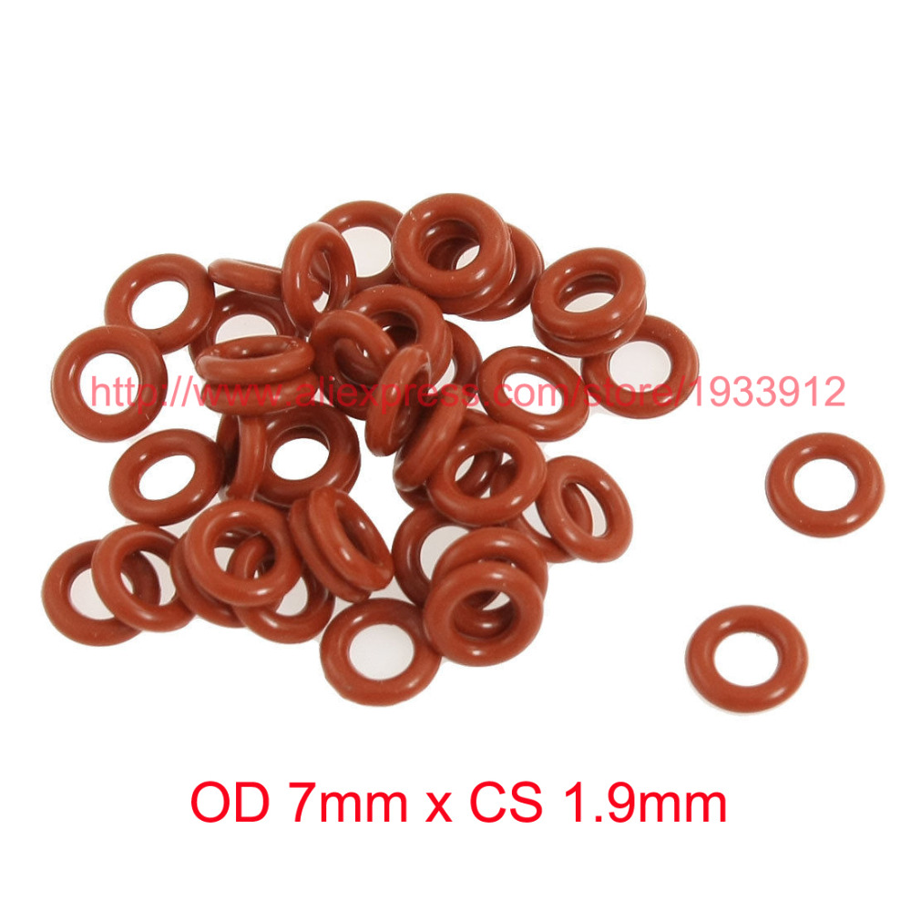 OD <font><b>7mm</b></font> x CS 1.9mm silicone seal washer <font><b>o</b></font>-<font><b>ring</b></font> gasket image