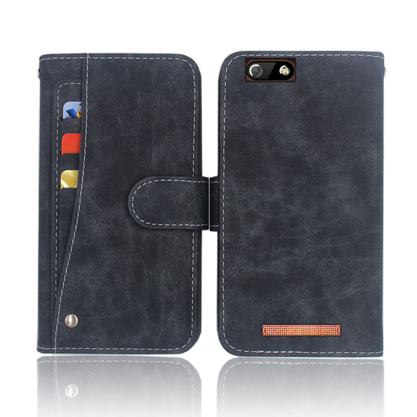 Hot! Highscreen Power Five EVO Case High quality flip leather phone bag cover case with Front slide card slot