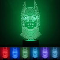Colorful Batman Mermaid Shape USB 3D Night Lights 1 5W LED Household Lamp Table Desk Light