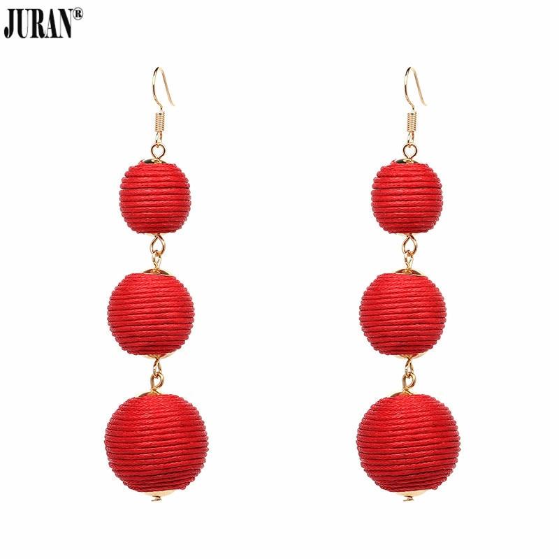 JURAN 14 kleuren elegante bal oorbellen mode-sieraden Unieke rode - Mode-sieraden - Foto 5
