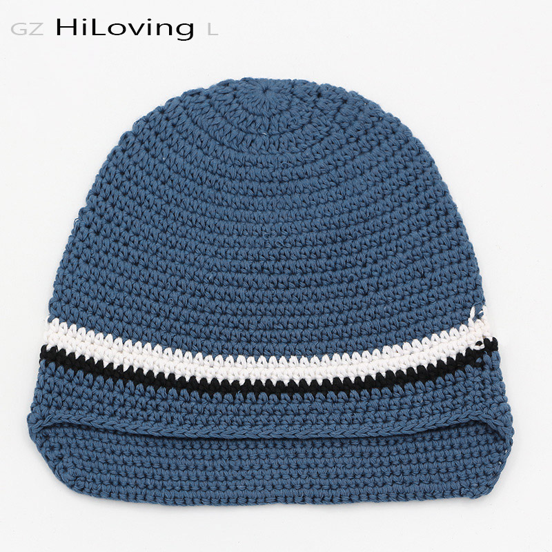 GZHilovingL Solid Baby Boys Handmade Cotton Knitted Beanies Hats For Kids Winter Autumn Skullies Caps 3 Size For Child Kids baby skullies boys caps headwear chapeau beanies