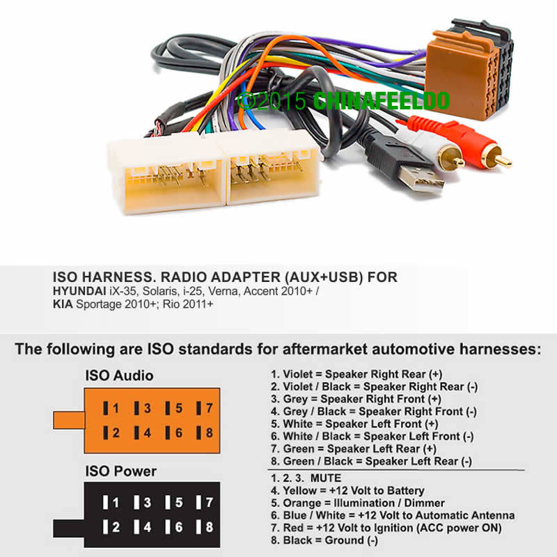 Car Stereo Radio ISO Wiring Harness Adaptor Power Cable FOR HYUNDAI iX 35 Solaris Verna Accent kia sportage wiring harness kia wiring diagram instructions kia sportage trailer wiring harness at gsmx.co