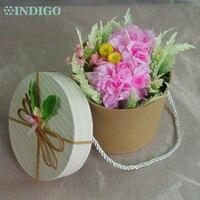 Индиго-Новый розовый цветок гвоздики ведро подарок на день матери невесты банкет цветок бонсай Свадебная вечеринка Бесплатная доставка