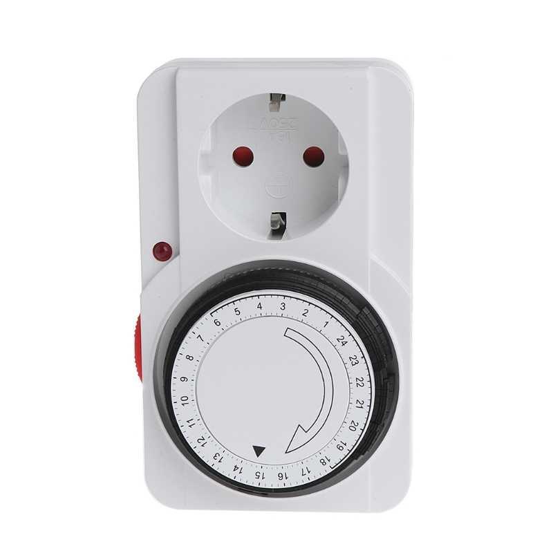 24 H mechaniczna elektryczna wtyczka ue programator czasowy przełącznik zasilania gniazdo oszczędzanie energii L15