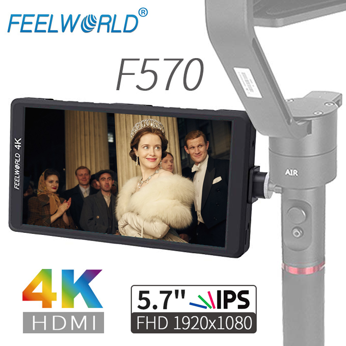 Feelworld F570 5 7 IPS Full HD 1920x1080 4K HDMI On camera Field Monitor for Canon